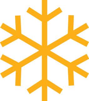 Orange Snowflake Icon