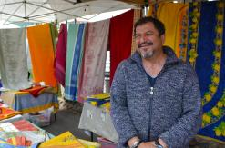 Vendor at open air market
