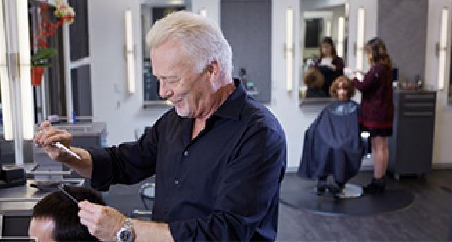 Cutting Hair at Saloon