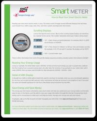 screenshot of how to read your smart electric meter brochure