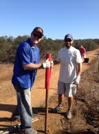 Two volunteers at Chaparral Conservancy